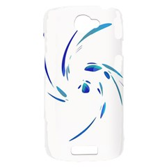Blue twist HTC One S Hardshell Case