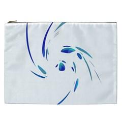 Blue twist Cosmetic Bag (XXL)