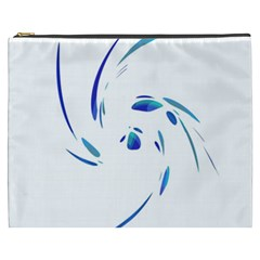 Blue twist Cosmetic Bag (XXXL)