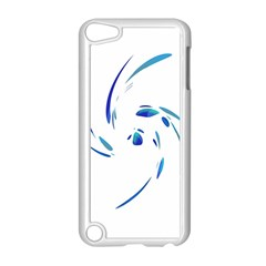 Blue twist Apple iPod Touch 5 Case (White)