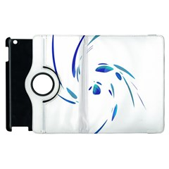 Blue twist Apple iPad 3/4 Flip 360 Case