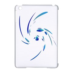 Blue twist Apple iPad Mini Hardshell Case (Compatible with Smart Cover)