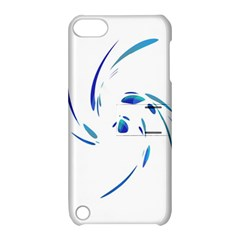 Blue twist Apple iPod Touch 5 Hardshell Case with Stand
