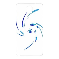 Blue twist Samsung Galaxy Note 3 N9005 Hardshell Back Case