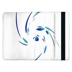 Blue twist Samsung Galaxy Tab Pro 12.2  Flip Case