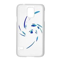Blue twist Samsung Galaxy S5 Case (White)