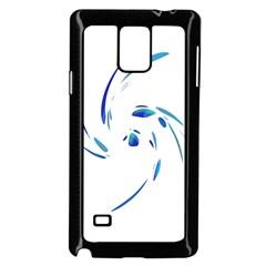 Blue twist Samsung Galaxy Note 4 Case (Black)