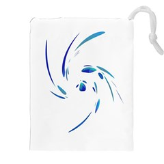 Blue twist Drawstring Pouches (XXL)