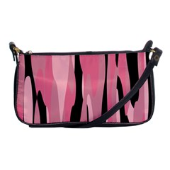 Black and pink camo abstract Shoulder Clutch Bags
