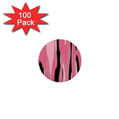 Black and pink camo abstract 1  Mini Buttons (100 pack)