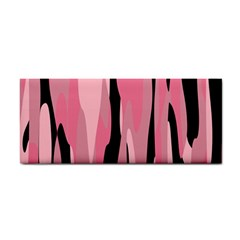 Black and pink camo abstract Hand Towel