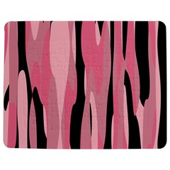 Black and pink camo abstract Jigsaw Puzzle Photo Stand (Rectangular)