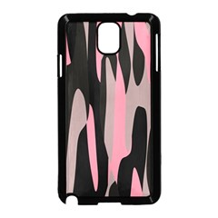 pink and black camouflage abstract Samsung Galaxy Note 3 Neo Hardshell Case (Black)