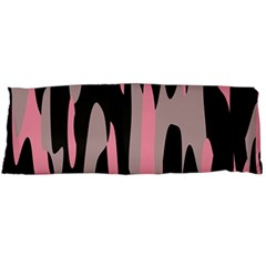 pink and black camouflage abstract 2 Body Pillow Case (Dakimakura)