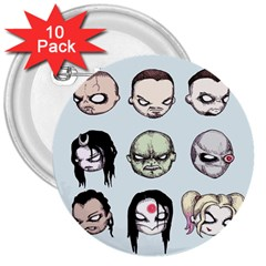 Worst Heroes Ever 3  Buttons (10 pack)