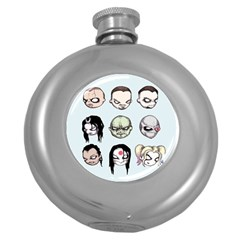 Worst Heroes Ever Round Hip Flask (5 oz)