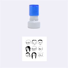 Worst Heroes Ever Rubber Round Stamps (Small)