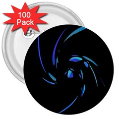 Blue twist 3  Buttons (100 pack)