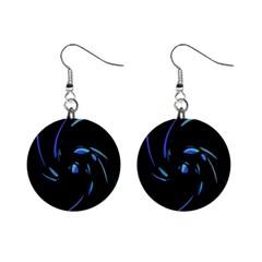 Blue twist Mini Button Earrings