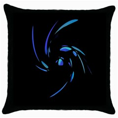Blue twist Throw Pillow Case (Black)