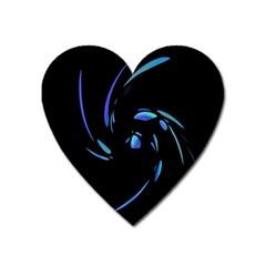 Blue twist Heart Magnet
