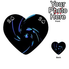Blue twist Playing Cards 54 (Heart)