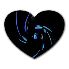 Blue twist Heart Mousepads