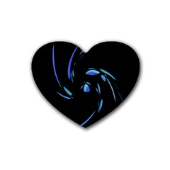 Blue twist Heart Coaster (4 pack)