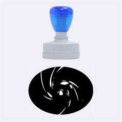 Blue twist Rubber Oval Stamps