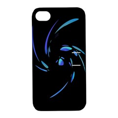 Blue twist Apple iPhone 4/4S Hardshell Case with Stand