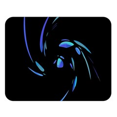 Blue twist Double Sided Flano Blanket (Large)