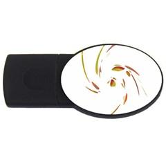 Orange twist USB Flash Drive Oval (1 GB)