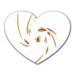 Orange twist Heart Mousepads