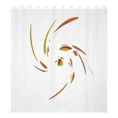 Orange twist Shower Curtain 66  x 72  (Large)
