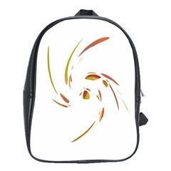 Orange twist School Bags(Large)