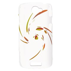 Orange twist HTC One S Hardshell Case