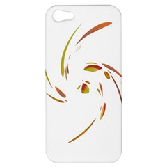 Orange twist Apple iPhone 5 Hardshell Case