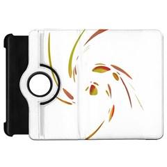 Orange twist Kindle Fire HD Flip 360 Case