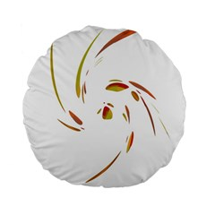 Orange twist Standard 15  Premium Round Cushions