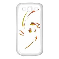 Orange twist Samsung Galaxy S3 Back Case (White)