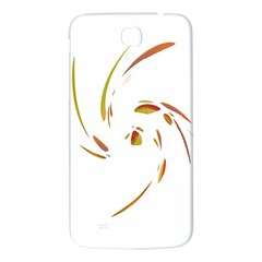Orange twist Samsung Galaxy Mega I9200 Hardshell Back Case