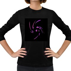 Purple twist Women s Long Sleeve Dark T-Shirts