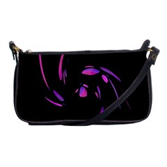 Purple Twist Shoulder Clutch Bags