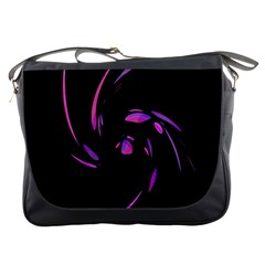 Purple twist Messenger Bags