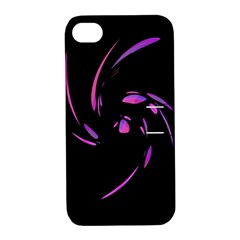 Purple twist Apple iPhone 4/4S Hardshell Case with Stand