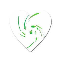 Green twist Heart Magnet