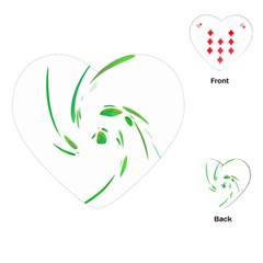 Green twist Playing Cards (Heart)