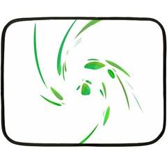 Green twist Fleece Blanket (Mini)