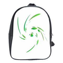 Green twist School Bags(Large)