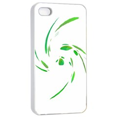 Green twist Apple iPhone 4/4s Seamless Case (White)
